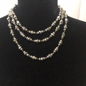 Jewelry - Silver beaded necklace